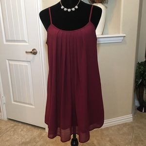 Dresses & Skirts - Wine colored Slip Dress